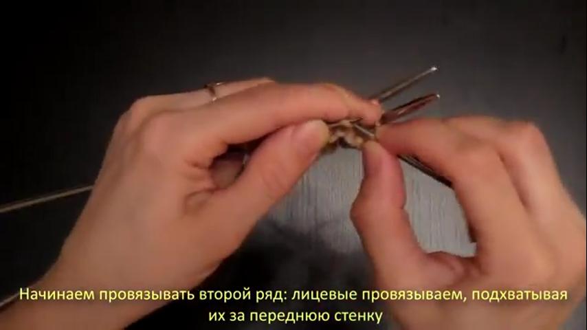 Вязание полой резинки по кругу 50