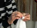 Платок в технике узелкового батика
